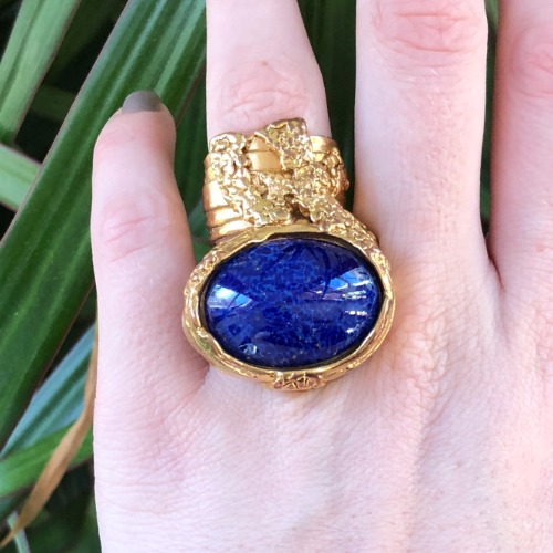 4d9574d94b04 Yves Saint Laurent Arty Gold-Plated Glass Ring – DesignerShare