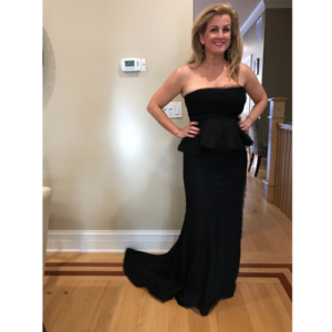 "Adrianna Papell ""Shutter"" Black Gown"