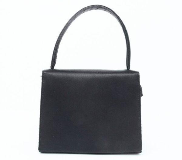 DesignerShare Chanel Vintage Top Handle Flap Bag Satin - Back