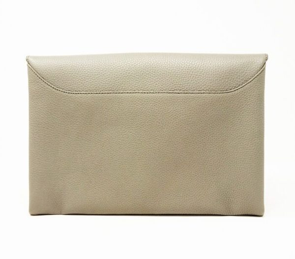 DesignerShare Givenchy Gray Antigona Leather Evening Envelope Clutch Bag - Back