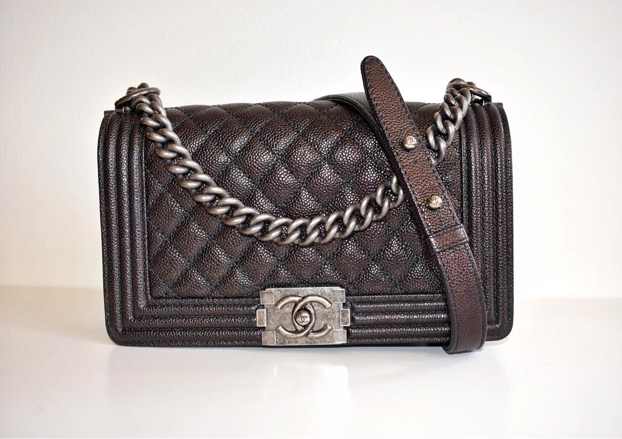 4ce13bc7ea9d Chanel Black Caviar Quilted Medium Flap Boy Bag – DesignerShare