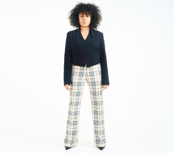 DesignerShare Burberry Nova Plaid Stretch Trousers - Front