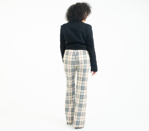 DesignerShare Burberry Nova Plaid Stretch Trousers - Back