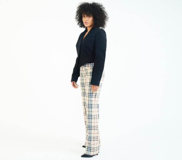 DesignerShare Burberry Nova Plaid Stretch Trousers - Side