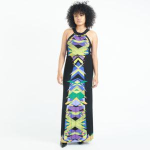 DesignerShare BCBGMAXAZRIA Multicolor Maxi - Front