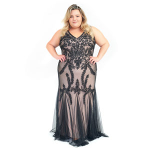 DesignerShare Betsy & Adam Soutache Mermaid Gown - Front