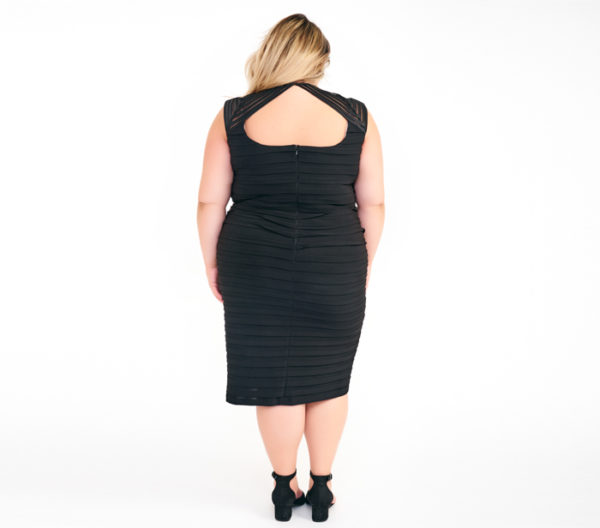 DesignerShare Betsy & Adam Banded Sheath Dress - Back