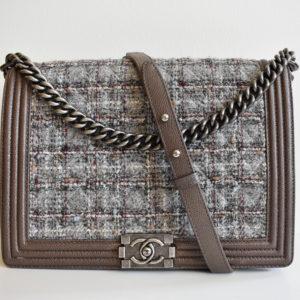 169766f6bb1bb Chanel Limited Edition Tweed Large Boy Bag