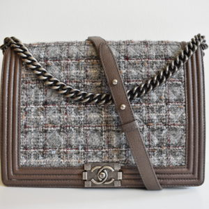 9c7e301cf832f Chanel Limited Edition Tweed Large Boy Bag