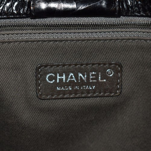 Chanel Black Quilted Handbag—Large Interior