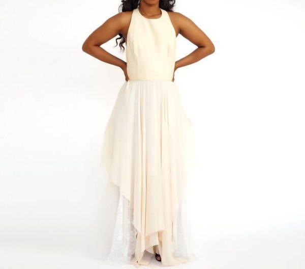 DesignerShare Alice + Olivia Jennifer Handkerchief Dress Detach - Front
