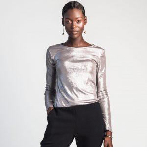 98a6f02a74764 VARYFORM Luna Metallic Long Sleeve Tee Silver