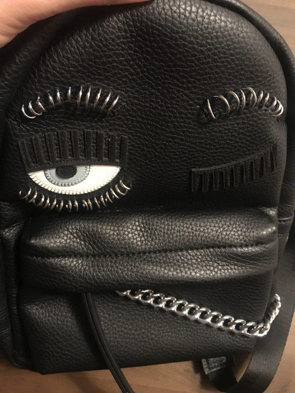 fd2be5a765c Chiara Ferragni Flirting Small Leather Backpack – DesignerShare