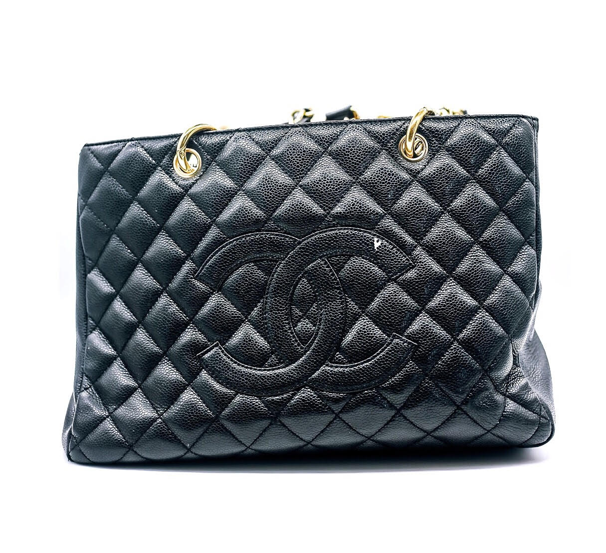 c3fad47cf3be Chanel Caviar Quilted Grand Shopping Tote Black – DesignerShare