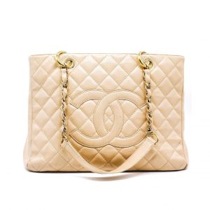 04997759315d Chanel Caviar Quilted Grand Shopping Tote Beige Clair