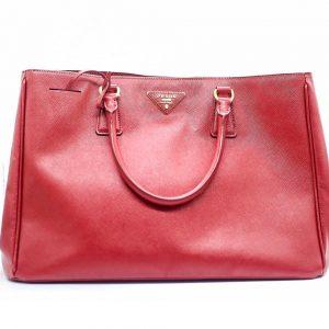 Prada Lux Open Saffiano Medium Red Leather Tote c44b6b9218c5b