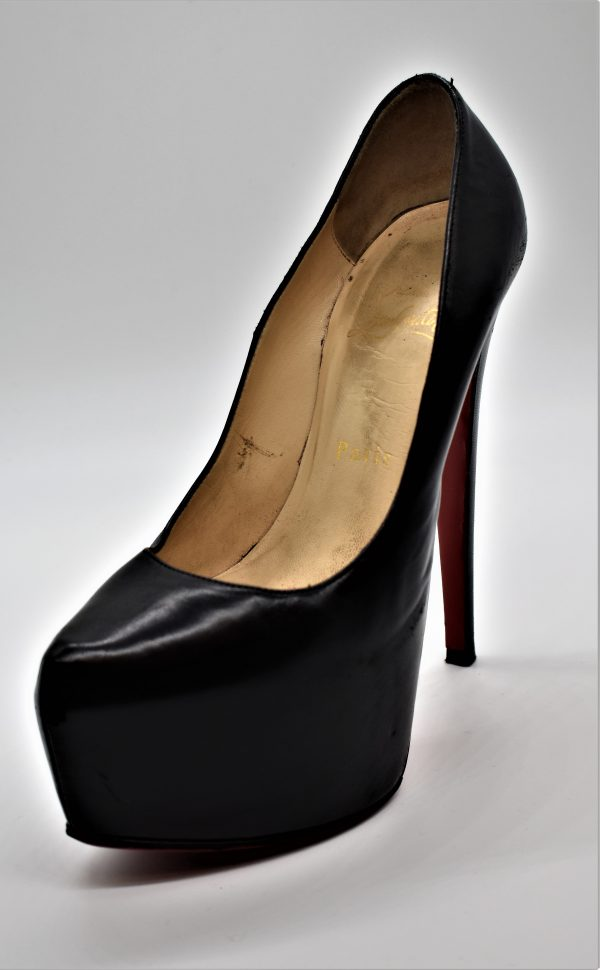 Christian Louboutin Bianca 120 mm Black Napa Leather Platform Pumps