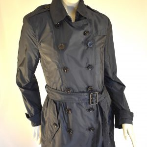 Burberry Brit Double-Breasted Short Trench Coat