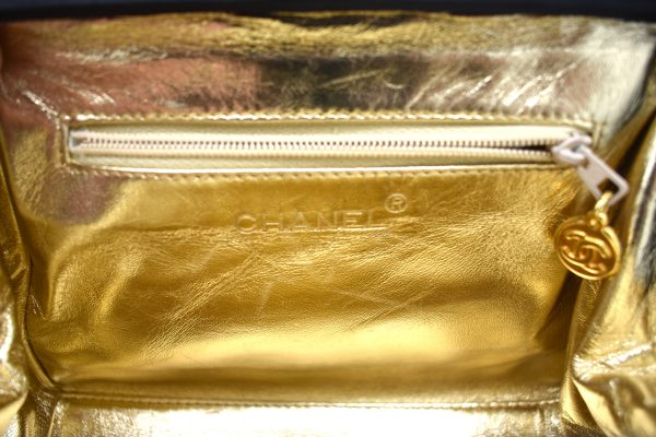 Vintage Chanel Quilted Silk Evening Shoulder Bag_InteriorPocket