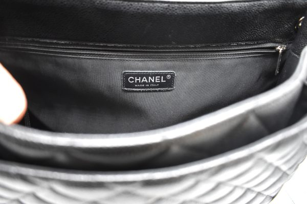 Chanel Large Flap Quilted Caviar Shopping Tote_Interior