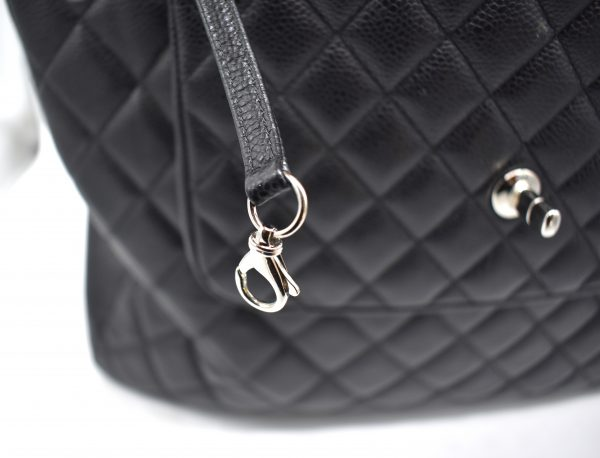 Chanel Large Flap Quilted Caviar Shopping Tote_Keychain