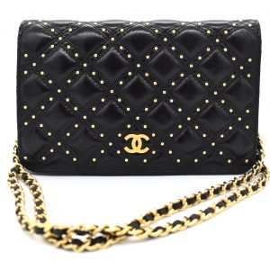 Chanel Gold Stud Wallet On Chain