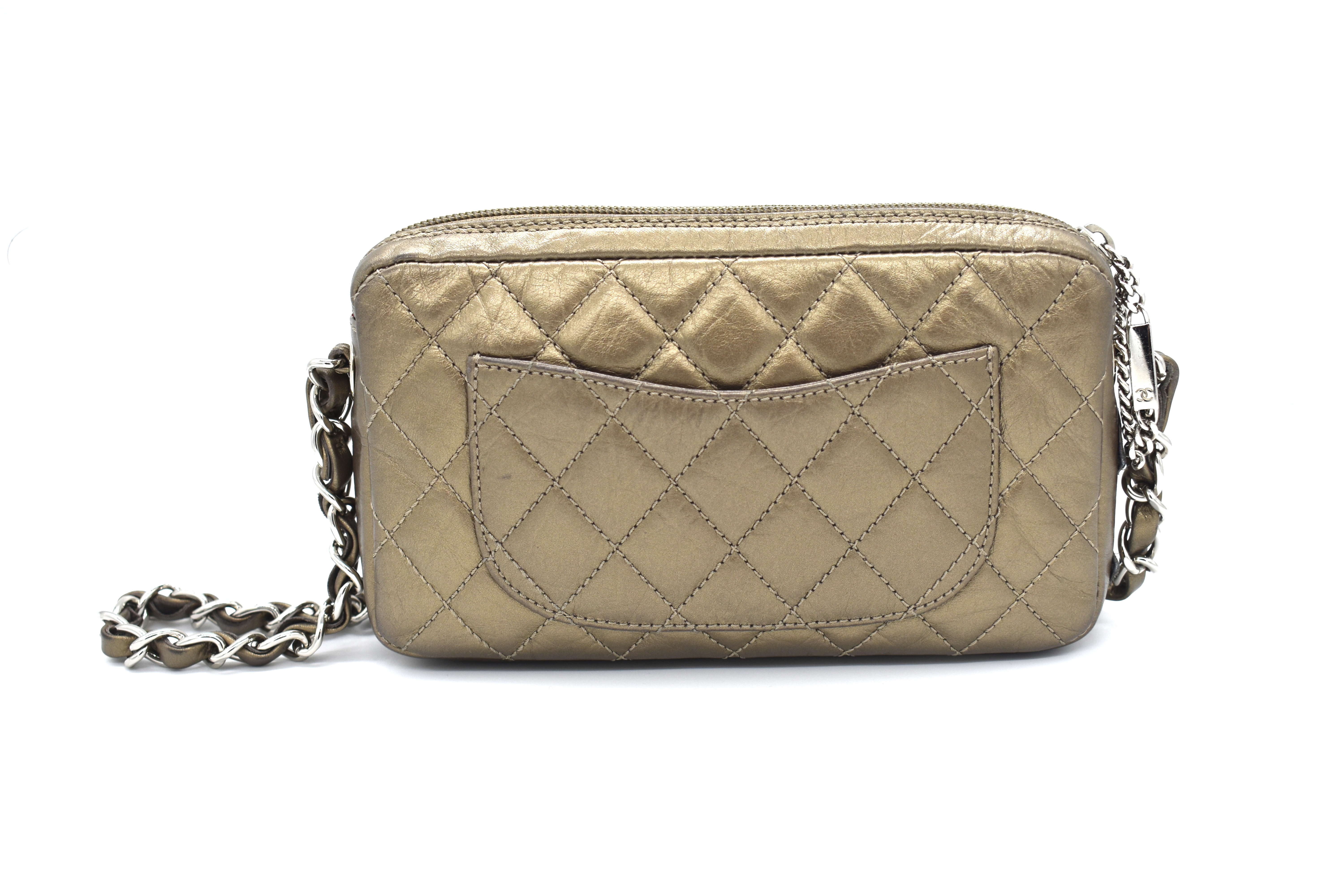 7eb53d8d6764 Chanel Bronze Quilted Clutch Bag – DesignerShare