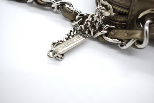 Chanel Bronze Quilted Clutch Bag_Charm