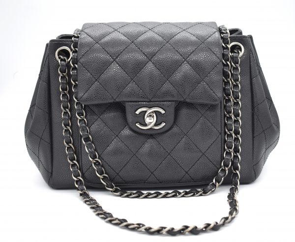 Chanel Quilted Caviar Hobo Bag