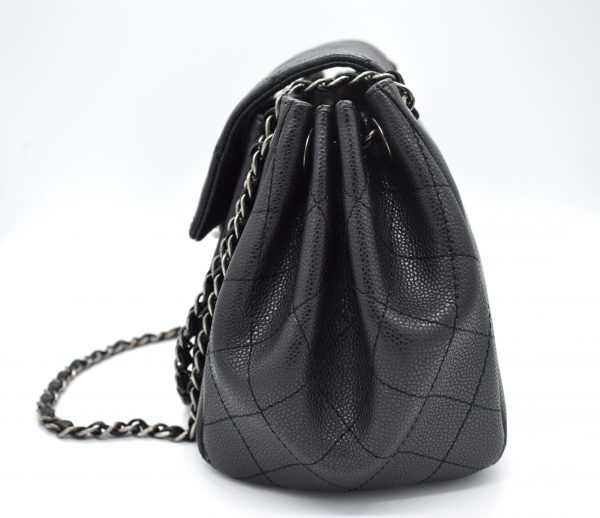 Chanel Quilted Caviar Hobo Bag_Side