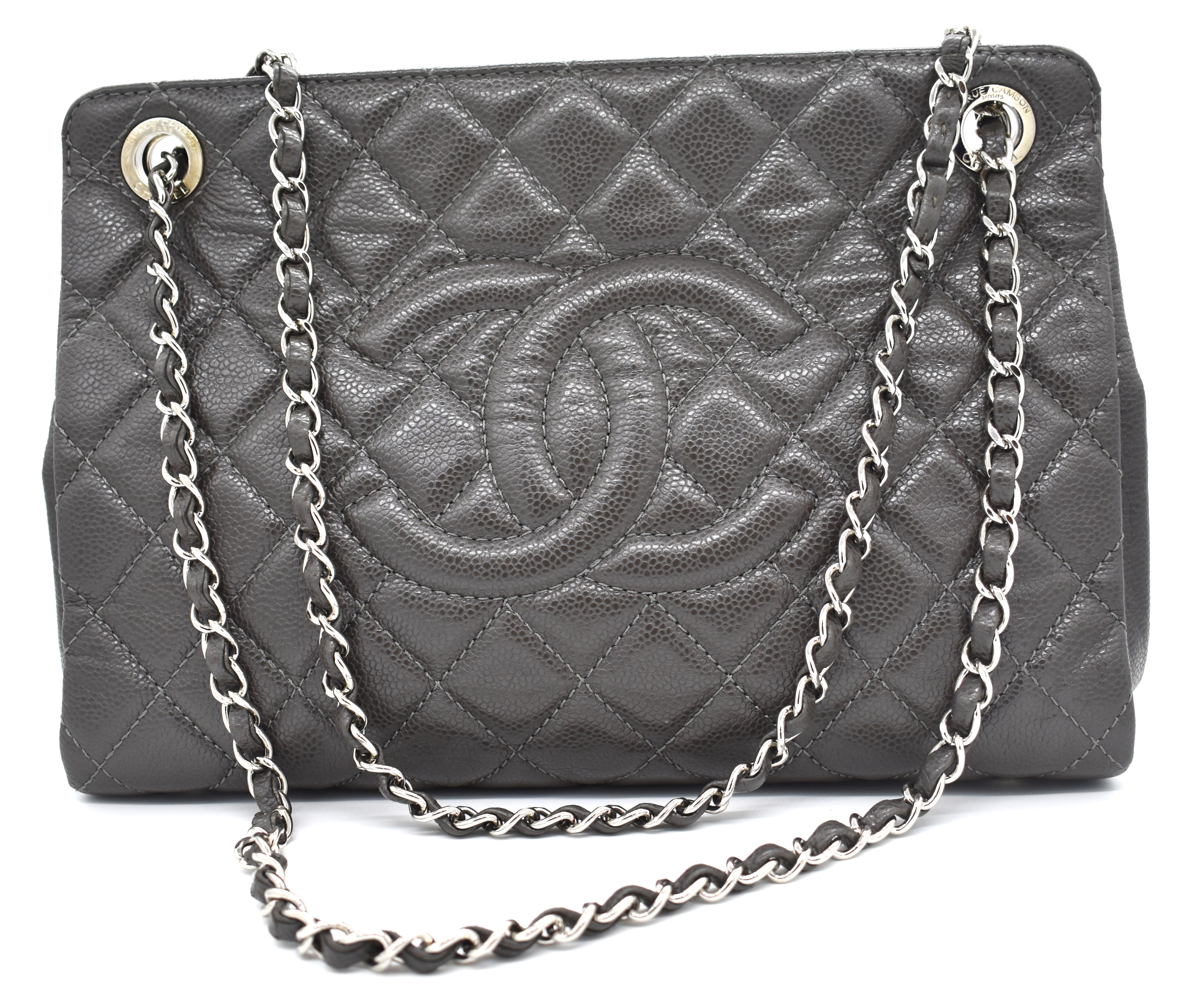 Chanel Gray Quilted Large Shopper Tote – DesignerShare 351b7a760848b