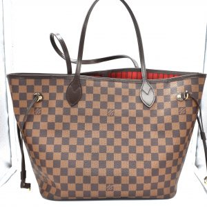 bec347cb10ab Louis Vuitton Damier Ebene Neverfull MM Tote