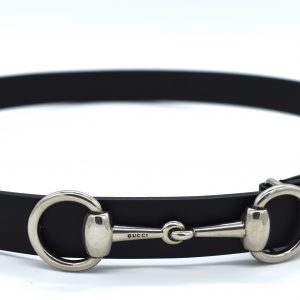 Gucci Leather Belt With Horsebit Buckle