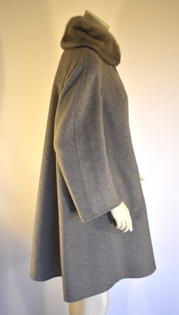 MaxMara Atelier Fur-Trimmed Coat_Side