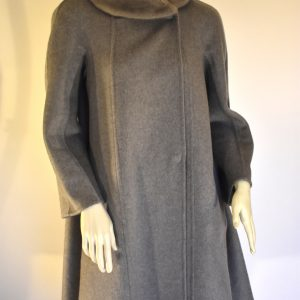 MaxMara Atelier Fur-Trimmed Coat_Front