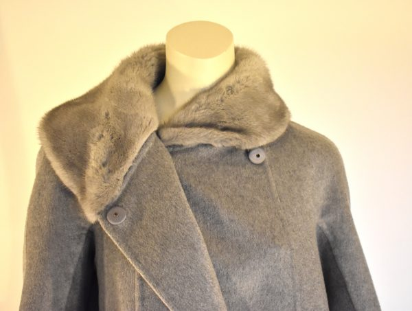 MaxMara Atelier Fur-Trimmed Coat_Buttons