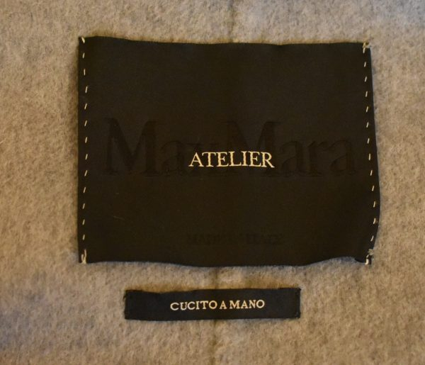 MaxMara Atelier Fur-Trimmed Coat_Label