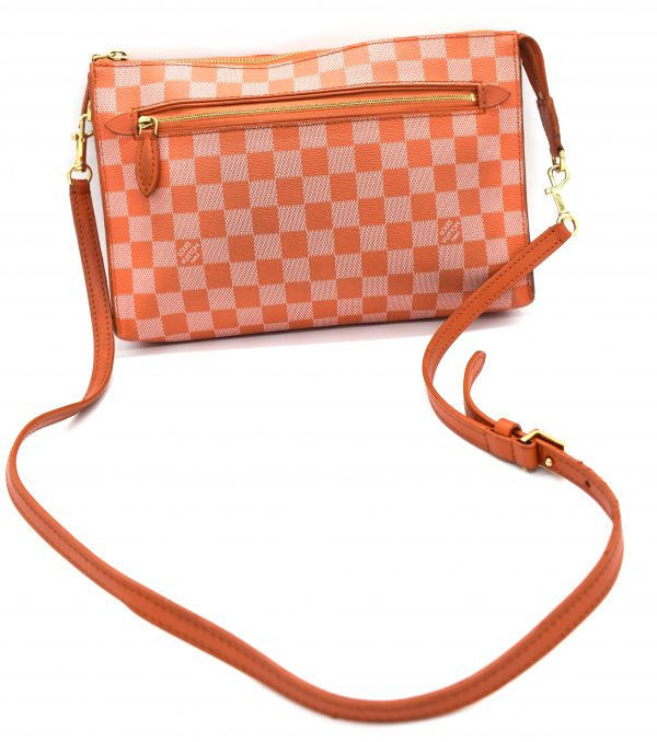 Damier Couleur Piment Modul 228733 Orange Coated Canvas Cross Body Bag_Back