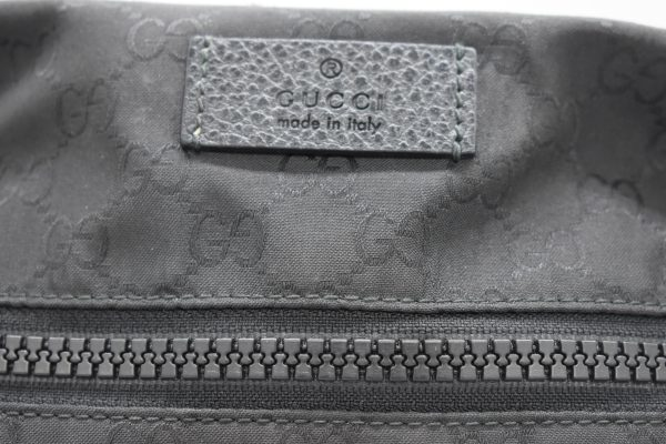 Gucci GG Guccissima Crossbody Black Nylon Messenger Bag_Detail