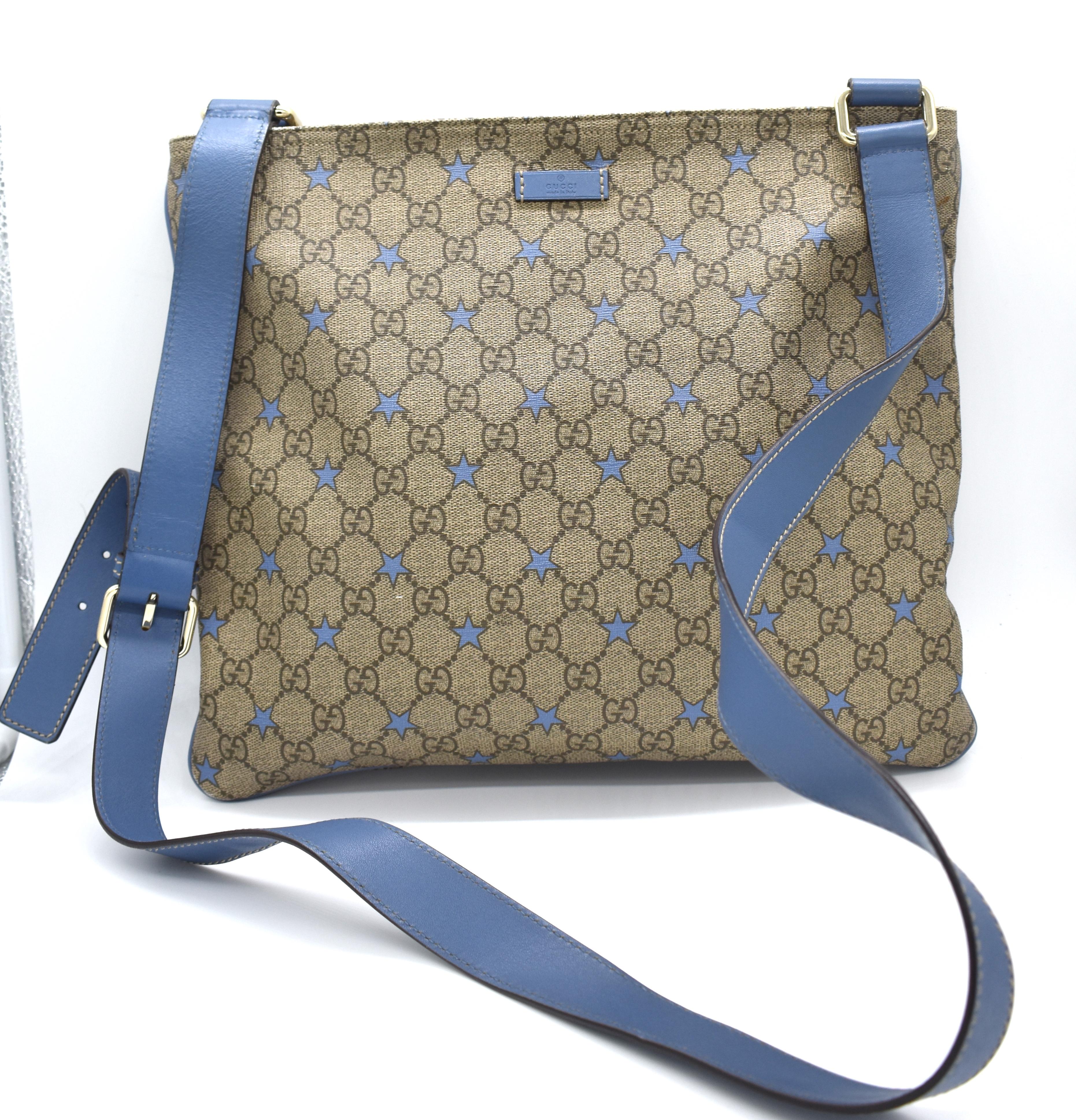 13a3f62541 Gucci GG Stars Monogram Messenger Bag – DesignerShare