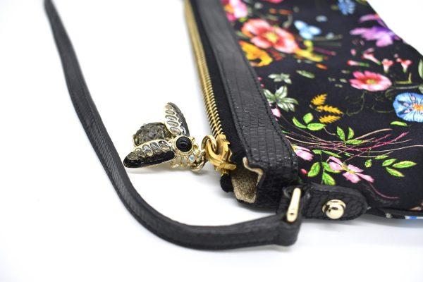 Gucci Lizard Trimmed Flora Pochette_BeeDetail