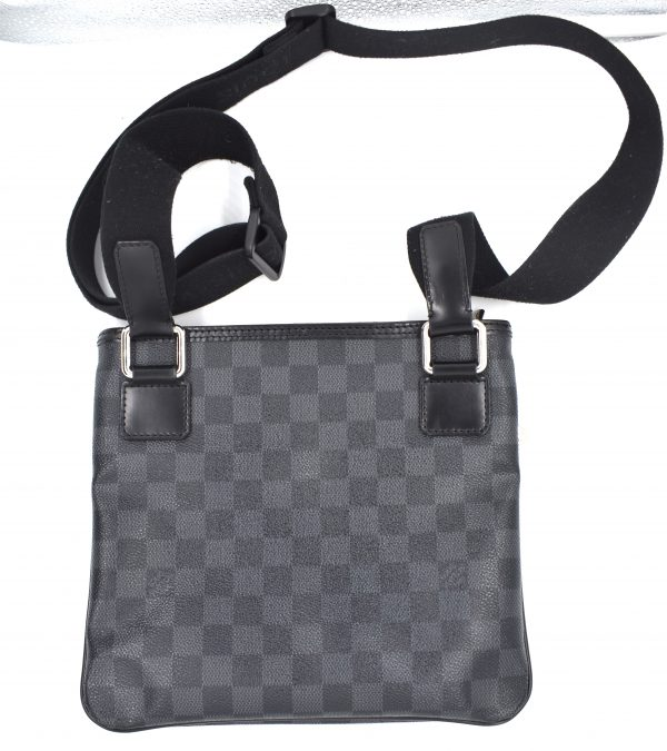 Louis Vuitton Damier Graphite Thomas Messenger 869338 Black Coated Canvas Cross Body Bag_Back