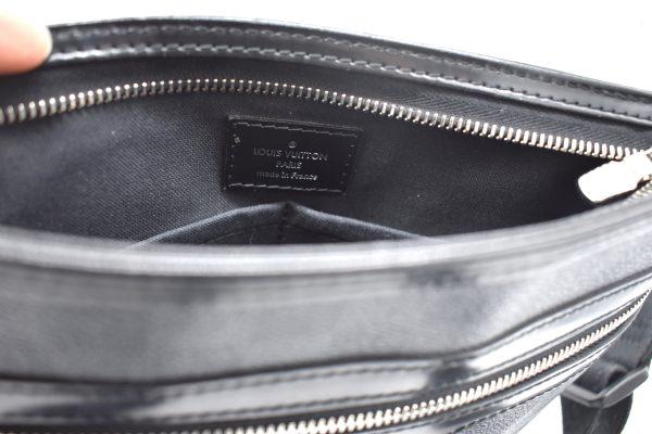Louis Vuitton Damier Graphite Thomas Messenger 869338 Black Coated Canvas Cross Body Bag_Detail