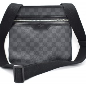 Louis Vuitton Damier Graphite Thomas Messenger Black Coated Canvas Cross Body Bag