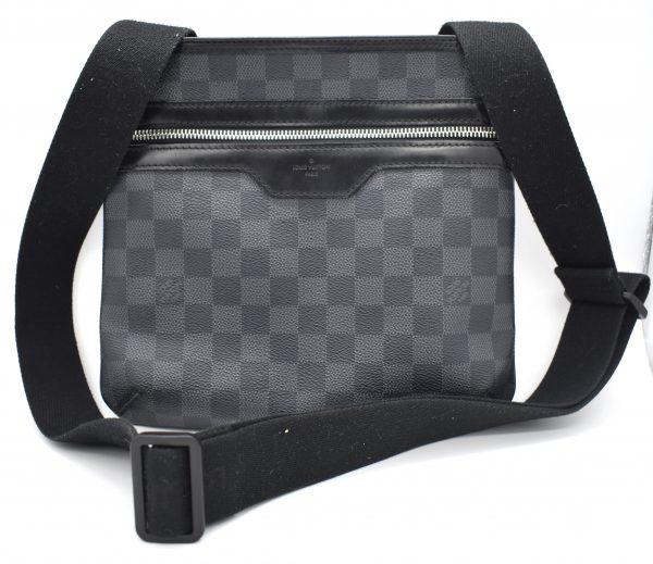 Louis Vuitton Damier Graphite Thomas Messenger Black Coated Canvas Cross Body Bag