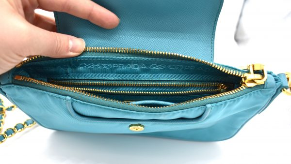 Prada Nylon Mini Shoulder Bag_InteriorDetail