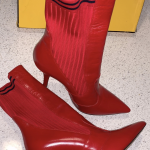 Red Fendi Sock Booties