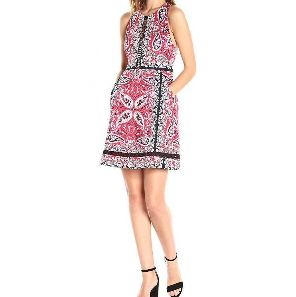 Nanette Lepore Overboard Paisley Cross-Back Dress_Side