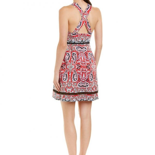 Nanette Lepore Overboard Paisley Cross-Back Dress_Back