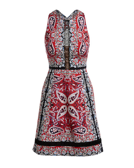 Nanette Lepore Overboard Paisley Cross-Back Dress_Detail